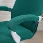 Kép 3/3 - SÖTÉT TENGERZÖLD, enyhén vízlepergető forgószék huzat (irodai)